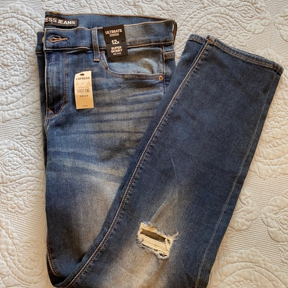 Women's Express Super Skinny Mid Rise 12 Jeans